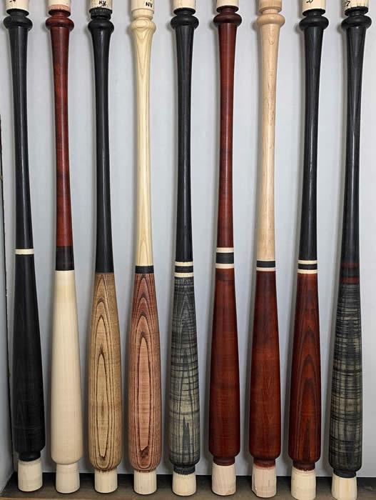 Wood Baseball Bats Red Oak Hickory Maple Ash