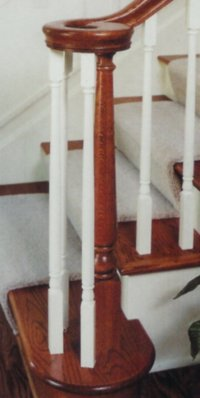 Above And Left Photos: Baluster (#5014) Newel (#1607) Volute (#7035)  Handrail (#6010)
